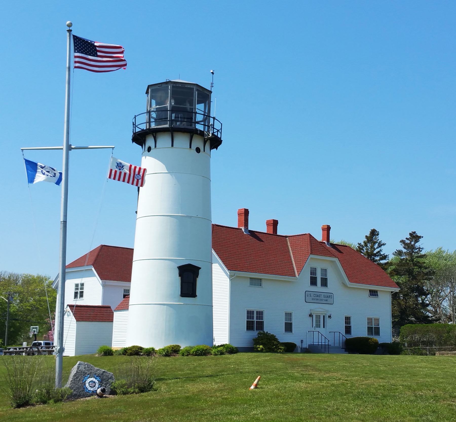 Chatham Lighthouse, Overlooking The Beach And Harbor, Is One Of